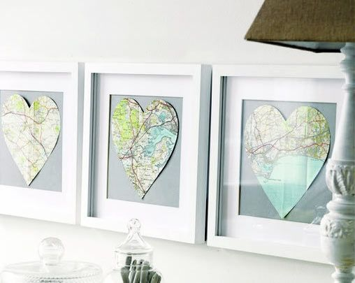 decorate with maps: Maps Fetish, Frames Maps, Neat Maps, Maps Wall, Vintage Maps, Maps Heart, Maps Decor, Maps Art Wal, Heart Maps
