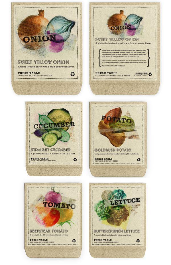 fresh table seed packaging. design credit, maggie lee.