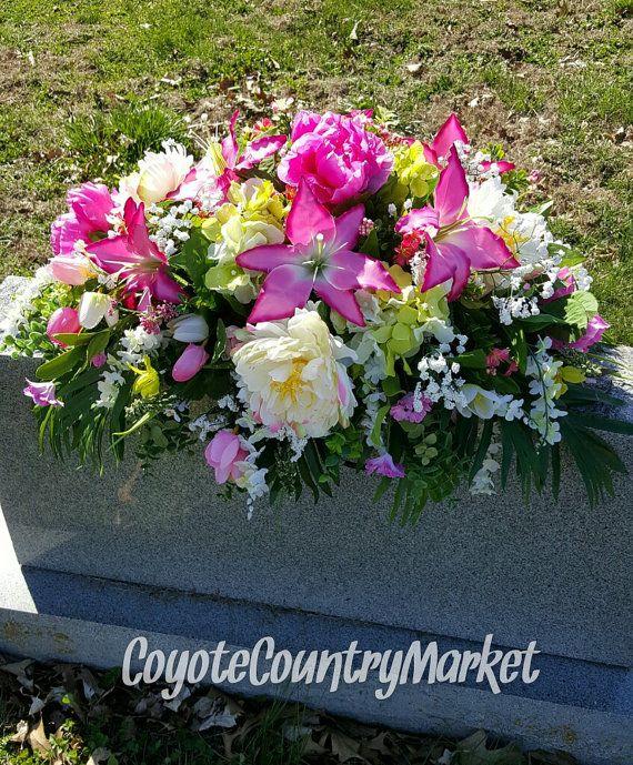 Cemetery Summer Headstone Saddle Memorial by CoyoteCountryMarket