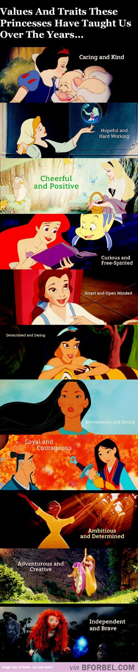 11 Values And Traits Disney Princesses Taught Us Over The Years…
