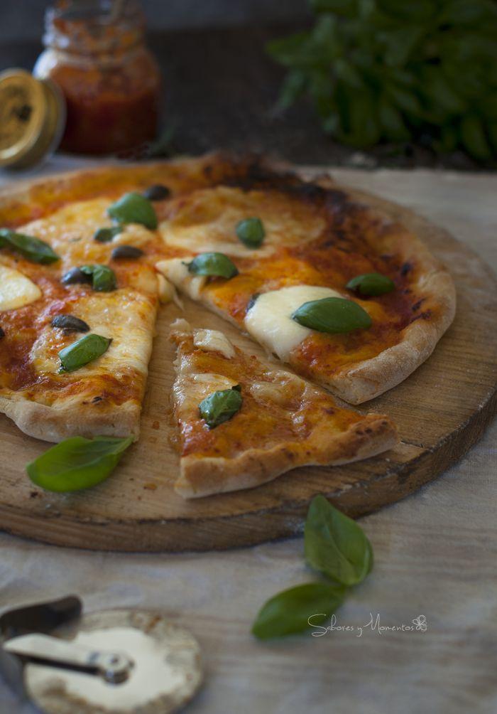 Sabores y Momentos | Pizza Margarita {Receta sin amasado de Ibán Yarza} | http://saboresymomentos.es