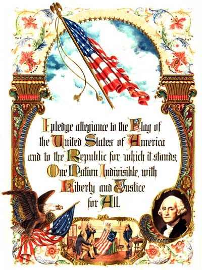 "The Pledge was supposedly written in 1892 by Francis Bellamy, a Baptist minister, to celebrate the 400th anniversary of Columbus Day. The words ""under God"" were added by Congress in 1954. The revised version of the Pledge was more recently the subject of litigation before the United States Supreme Court originally brought by Michael Newdow, a parent who unsuccessfully objected to his daughter's school district policy requiring daily recitation of the Pledge. The court ruled that Newdow had…"