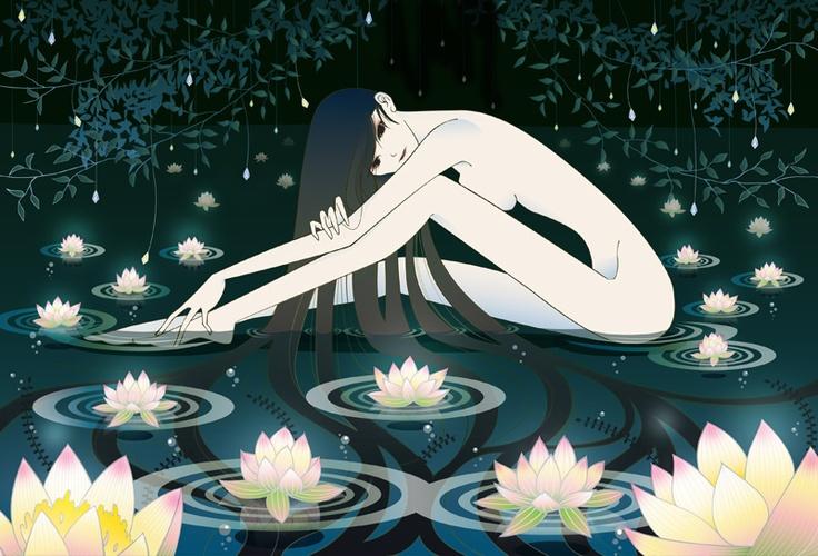 蓮/a lotus flower