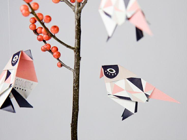 Origami birds fold it djello diy pinterest for Raumgestaltung vogel