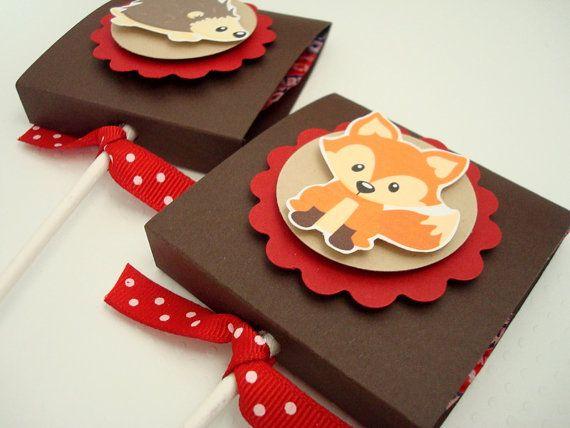 Woodland Animals Lollipop Favors Set of Ten by SimpleTastes, $14.50
