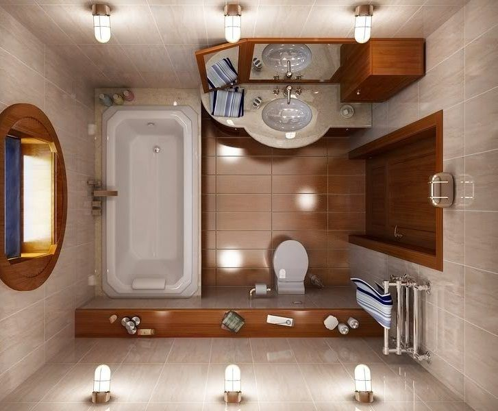 Distribución de un baño pequeño