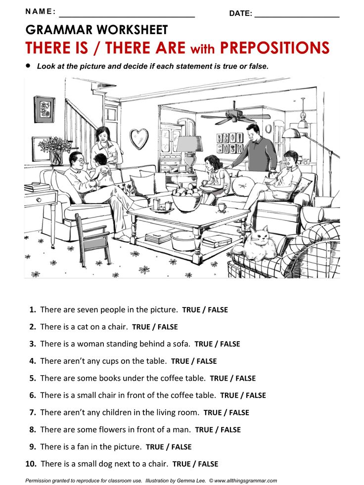 English ​Grammar Worksheet, There is / There are. http://www.allthingsgrammar.com/there-is--there-are.html