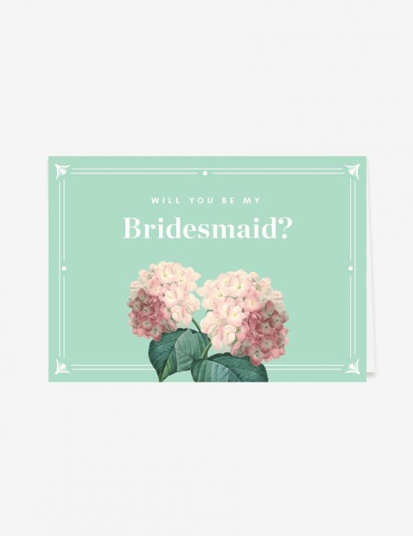 Will you be my bridesmaid? Pop the question to your bestie with this lovely botanical will you be my bridesmaid card. Shop this easy printable design only at www.inatondesign.com