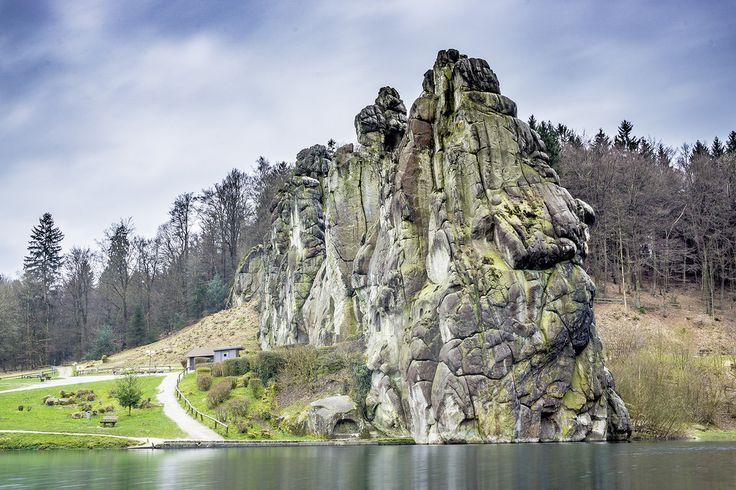 ste.wi posted a photo:  The Externsteine is a distinctive sandstone rock formation located in the Teutoburg Forest, in the German state of North Rhine-Westphalia.