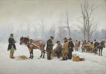 Stanisław Masłowski - Wyjazd na polowanie, 1900 r.