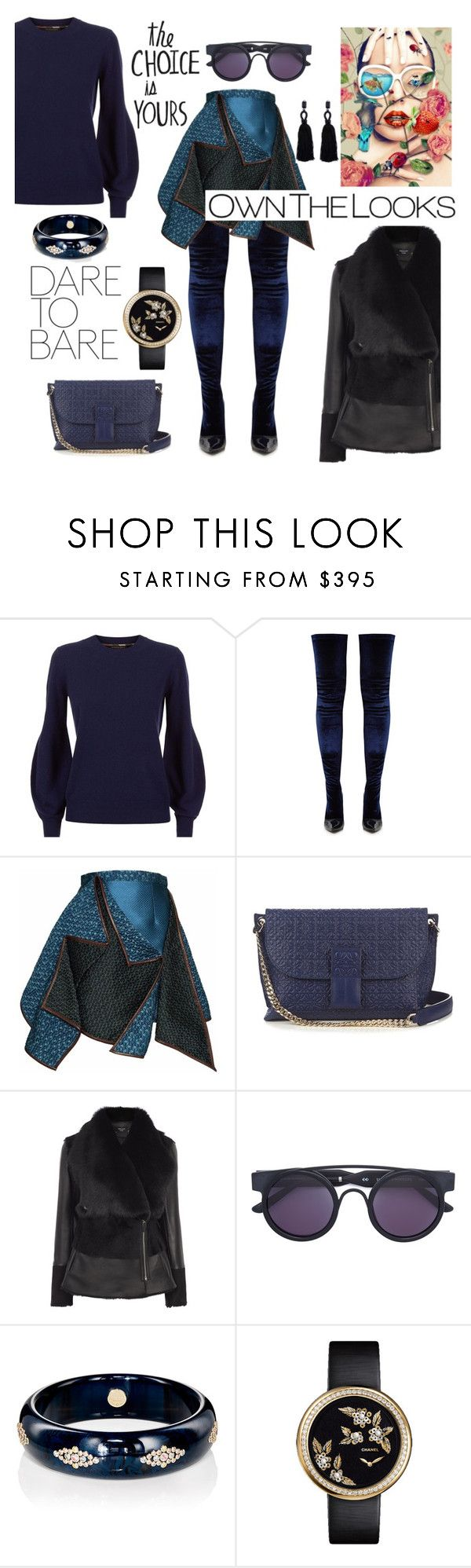 """Own the looks"" by zabead ❤ liked on Polyvore featuring Burberry, Balenciaga, Gyunel, Loewe, Monreal, Smoke x Mirrors, Mark Davis, Chanel and Oscar de la Renta"