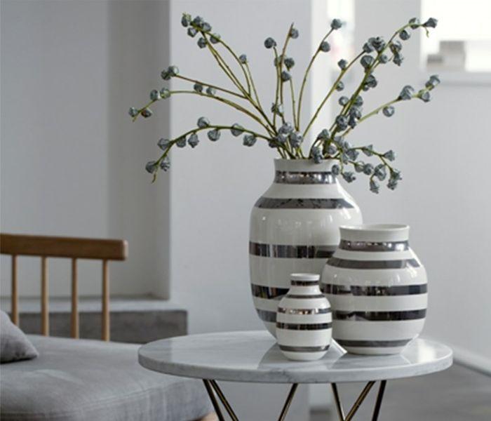Kähler Omaggio Sølv - Sølvstribet vase - detydre.dk