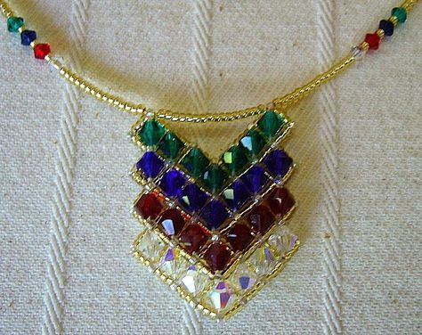 Chevron - RAW bicone necklace - 3/3 - From Carl's Beading Table: Necklace