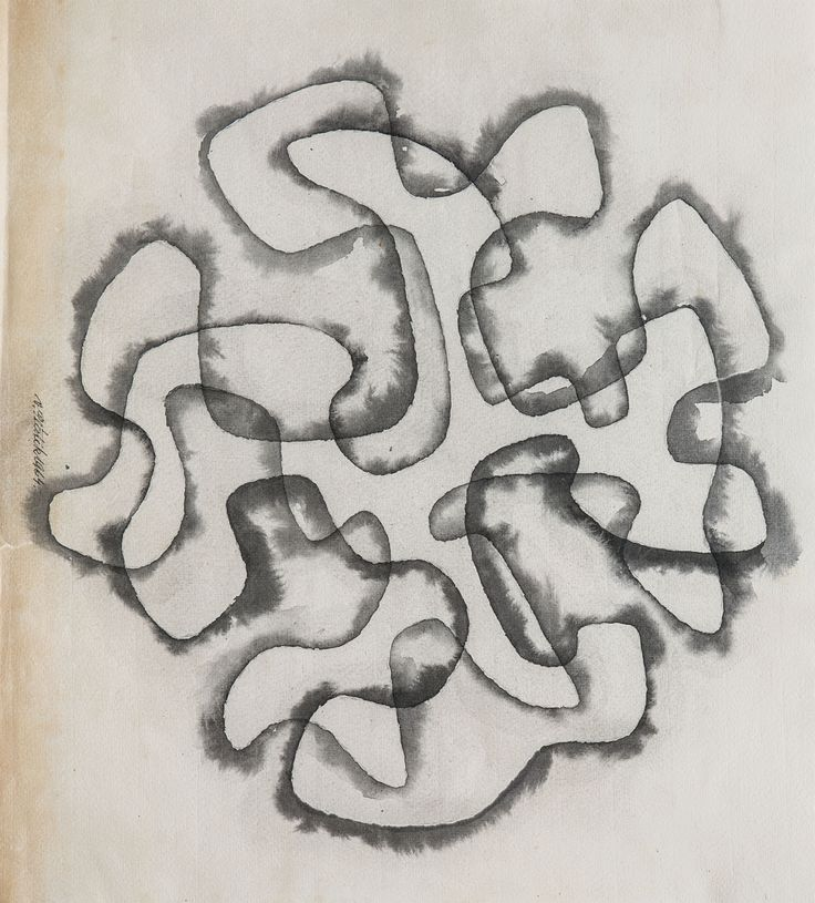Design drawing, watercolor over pencil on paper, D: 38,0 x 42,0 cm, 1964