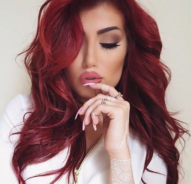 amazing, beautiful, beauty, eyebrows, eyes, face, girl, hair, hairstyle, henna, lips, love, makeup, nails, pretty, products, red, redhair, stunning, style, woman