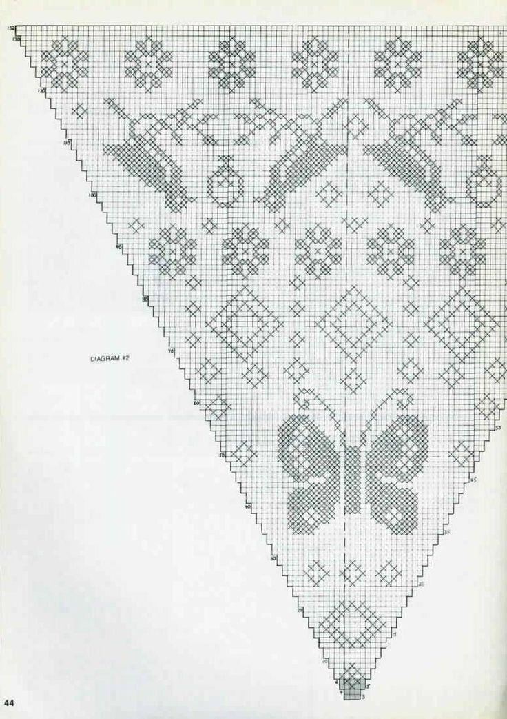 856 best crochet filet butterfly images on Pinterest | Häkeln ...