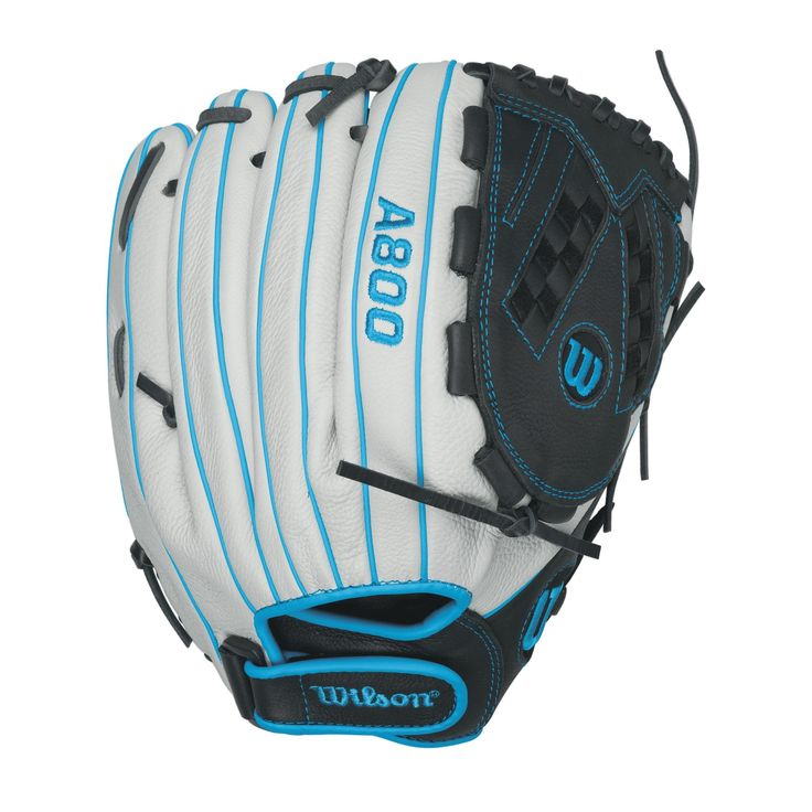 "Wilson Aura Game Ready Fastpitch Softball Gloves, Ivory/Electric Blue, 12.5"", Right Hand Throw"