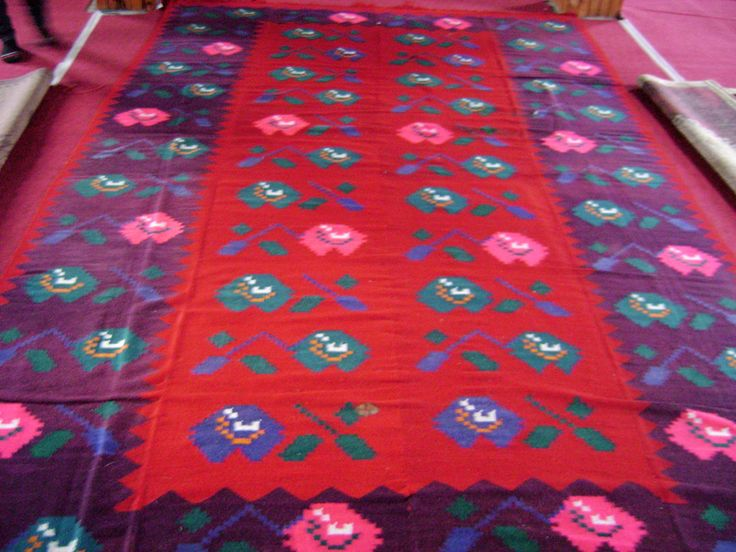 Traditional Albanian handmade rug
