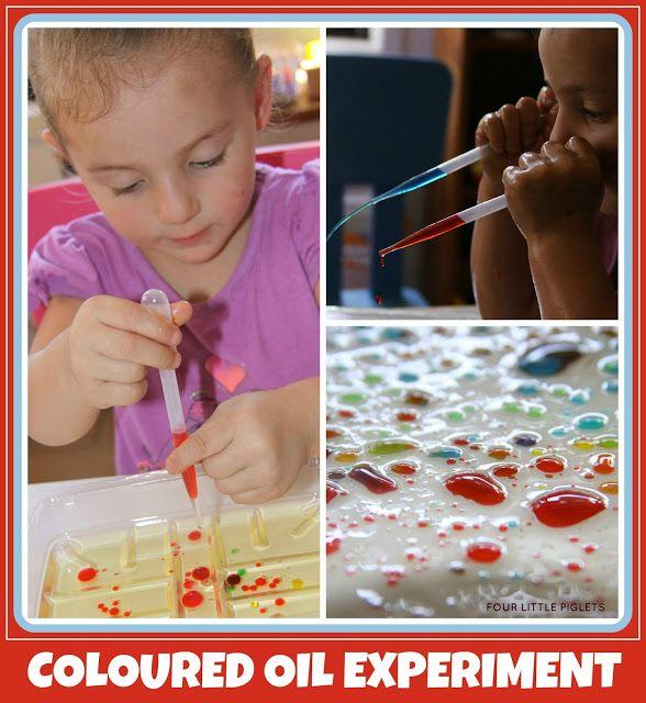Four Little Piglets - Coloured Oil Experiment