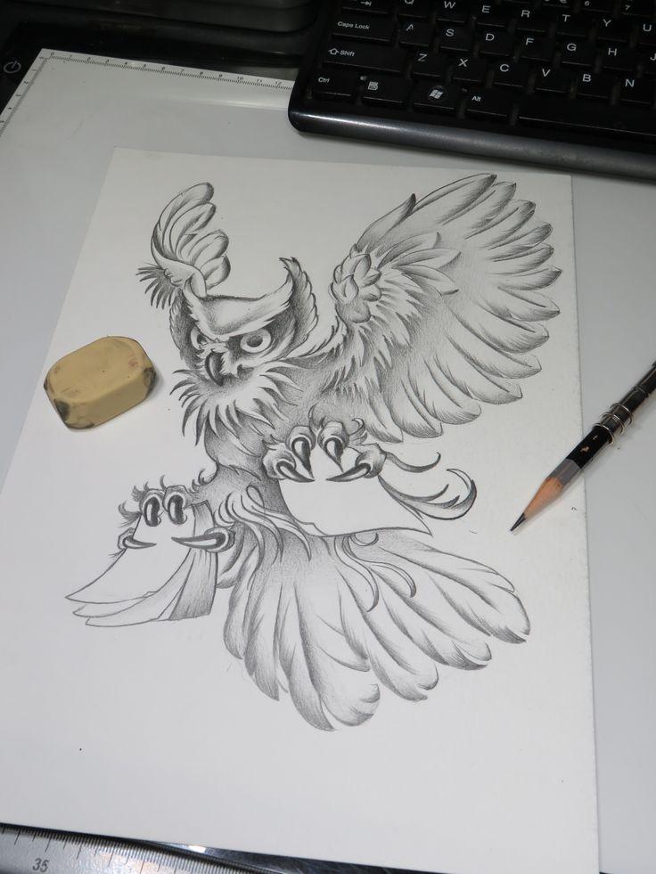#owl #tattoo #ideas #drawing #pszeklety