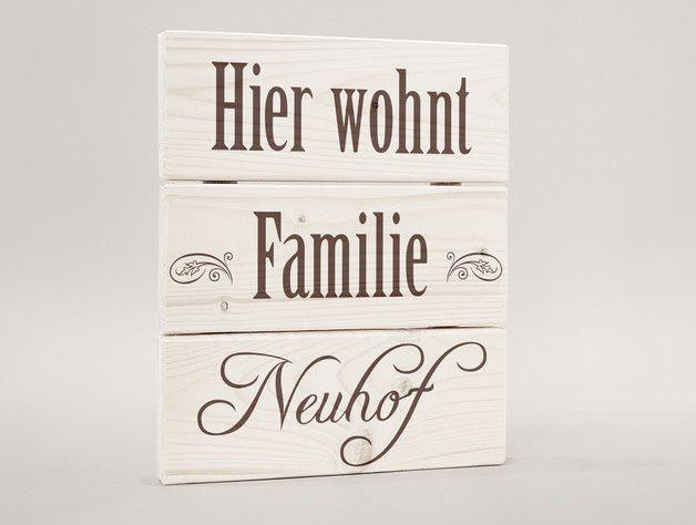 Familienname, Geschenk Einzug, Namensschild