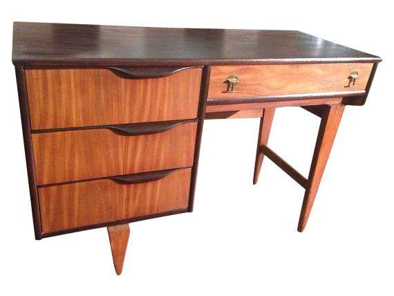 Mid Century Modern Desk By Stanley On Chairish