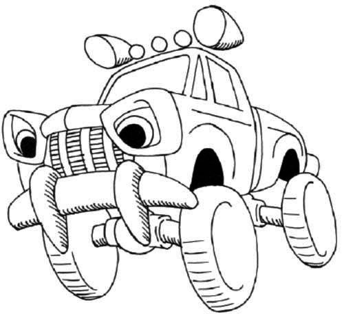 Off Road Cartoon Car Coloring Page