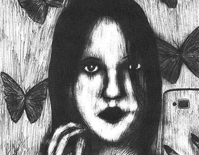 """Check out new work on my @Behance portfolio: """"Retrato de Carolaine"""" http://be.net/gallery/61077229/Retrato-de-Carolaine"""