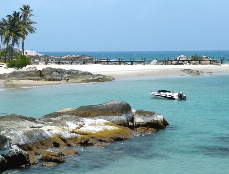 Un buen riconcito para perderse...#travel#Indonesia Parai Beach, Bangka Island, Indonesia
