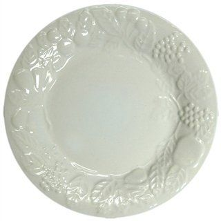 Gibson Housewares White Dessert Plate-10893 by Gibson Housewares. $1.02. Gibson Housewares White Dessert Plate Gibson Housewares® White Dessert PlateThis Dessert Plate is microwave and dishwasher safe. It features a fruit design around the edge. Features:Material: ChinaColor: WhiteDishwasher SafeMicrowave Safe