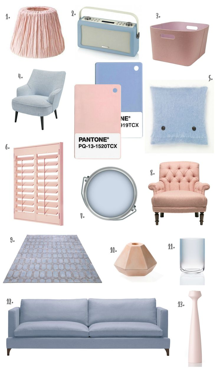Pantone Colour of the Year 2016 - The Design Sheppard. Incorporate new colors in to your  home to create a blush, yet modern feel.-- Aria Toulouse