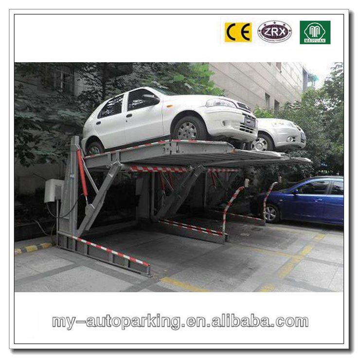 Tilting Parking Lift For 2 Cars Images Of Quality CE Certificates Approved Two Vehicles Automated Car System Double Deck Park Supplier From