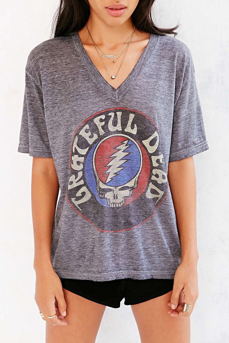 Life Clothing Grateful Dead Easy V-Neck Tee - Urban Outfitters Can NOT take this t-shirt off.  It is so soft and goes with so many of my cardigans.