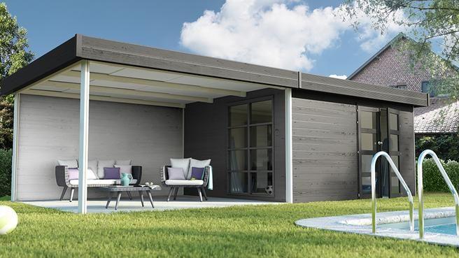 Un abri de jardin multifonctions avec une pièce annexe