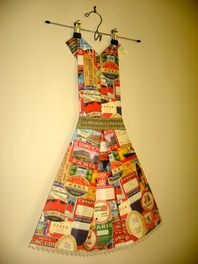 Folded Paper Dress Art - Travel Labels