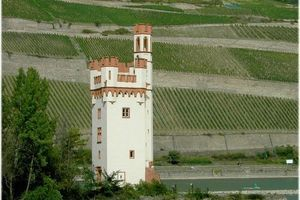 BINGEN, GERMANY MAUSETURM TOWER Legendary site where an evil bishop was devoured by rodents
