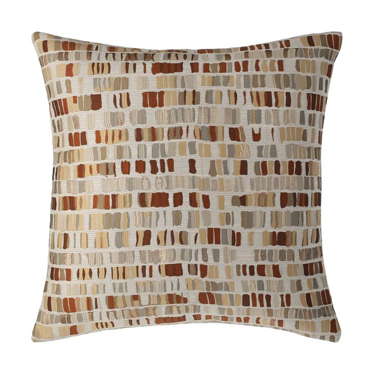 brick wall inspired multi colour metallic toned copper decorative cushion throw pillow sassy copper 18 cushions
