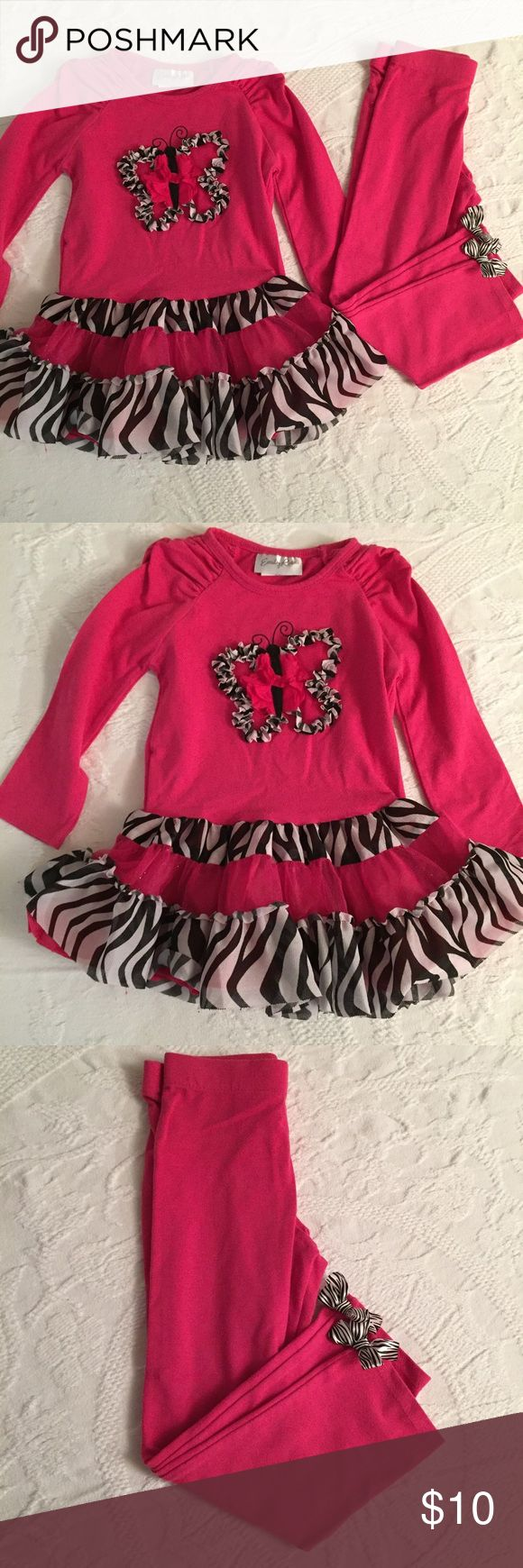 Adorable Emily rose outfit!  🦋 Size 3T. Super cute designer outfit with ruffle and bow details! In perfect condition! emily rose Matching Sets
