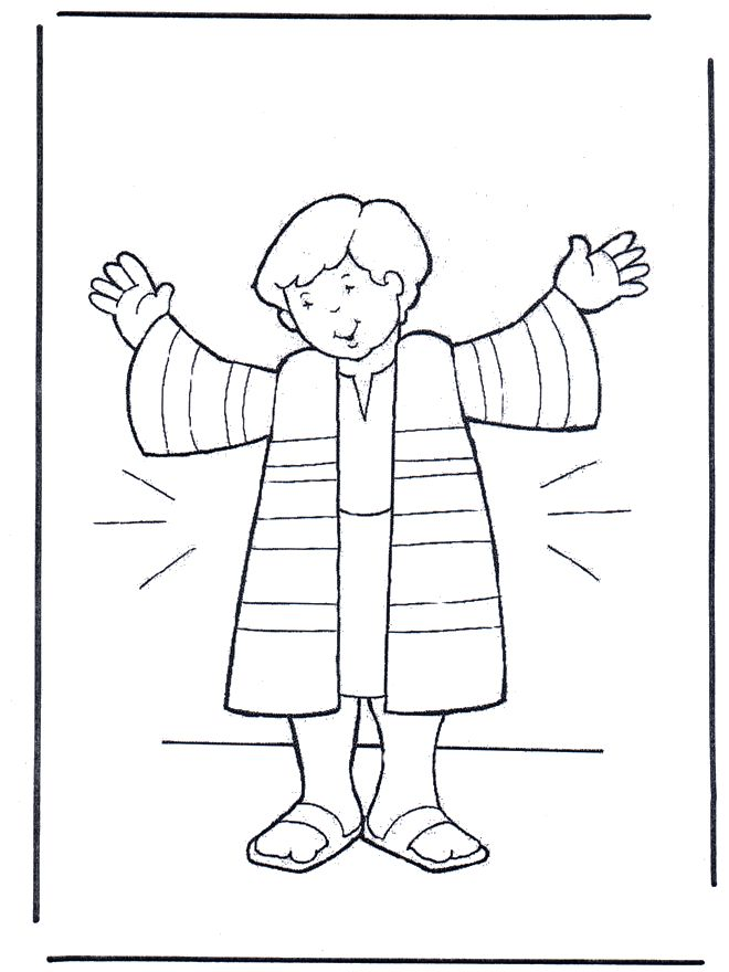 Josephs Coat Coloring Sheet