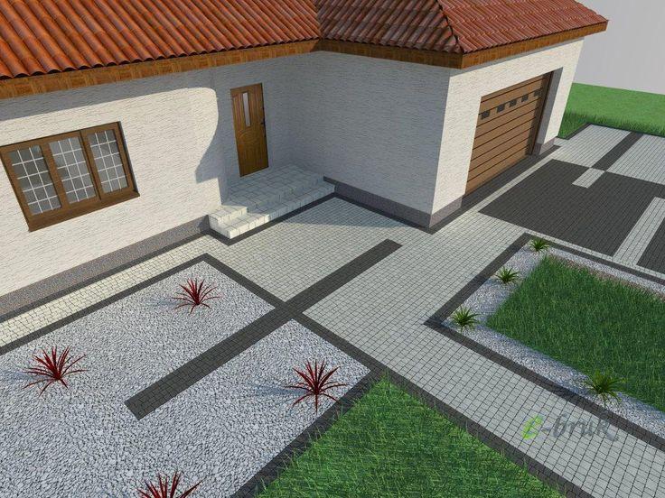 projekty kostki brukowej przed domem | Kostka Brukowa - Wzory, Projekty…