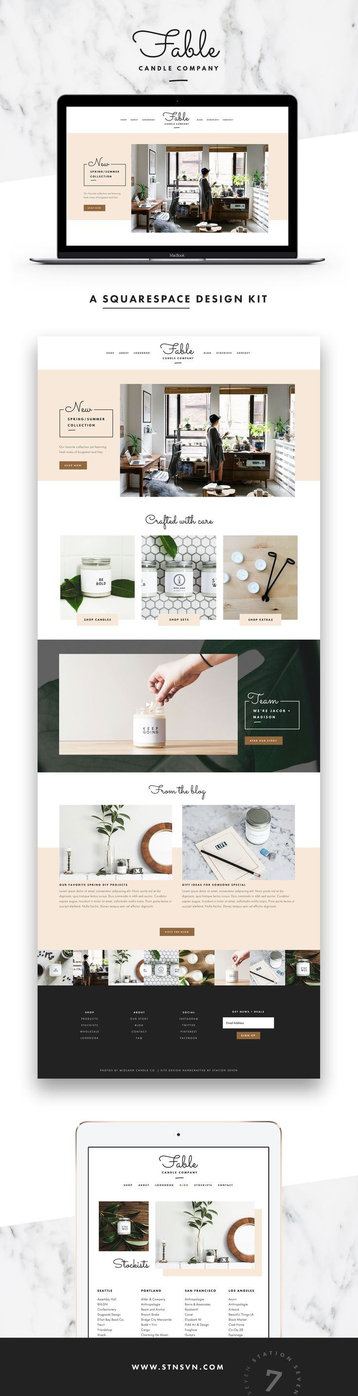 Fable Squarespace Template -This is more than just a theme, this is a Station Seven Squarekit empowering you to rock your online presence.