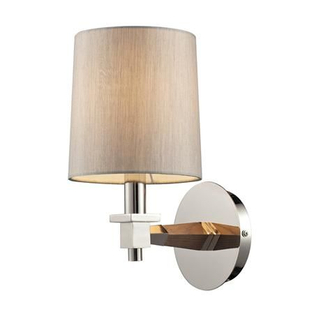 New Directions Wooden Arm Wall Sconce PN and Wood