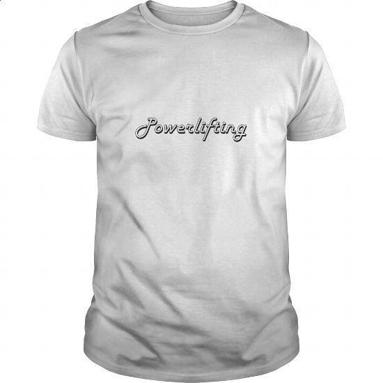 Powerlifting Classic Retro Design - #tee shirts #movie t shirts. GET YOURS => https://www.sunfrog.com/Jobs/Powerlifting-Classic-Retro-Design-White-Guys.html?60505