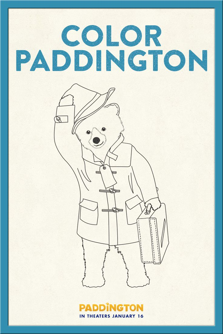 33 best Paddington Printables images on Pinterest