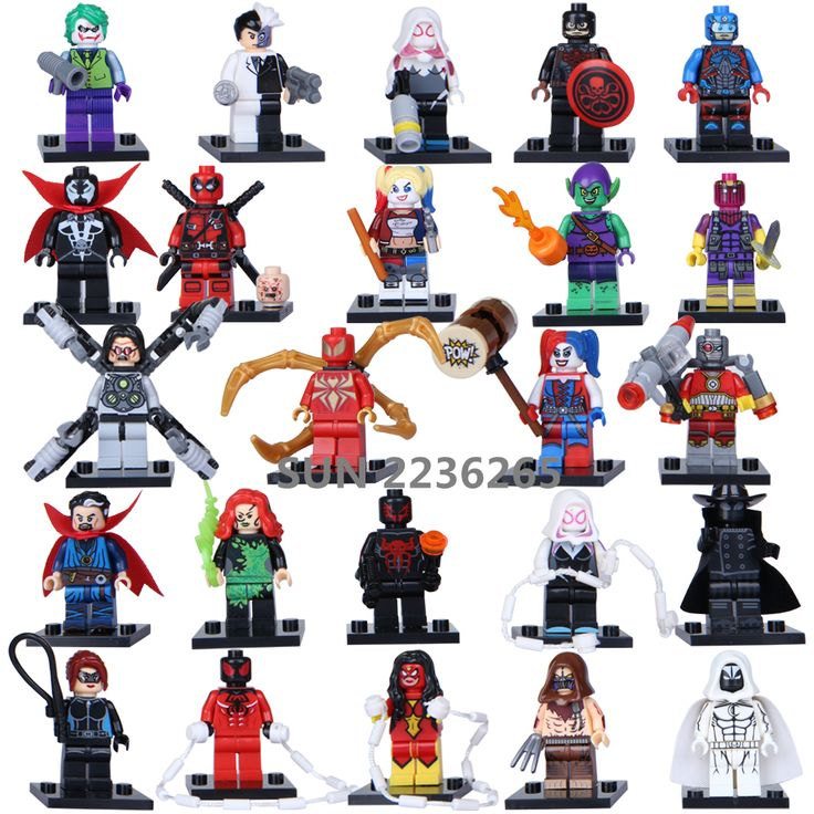Single Sale Marvel Super Heroes Avengers Suicide Squad Iron Man Batman Minifigures Blocks Bricks Toys Compatible with Legoes