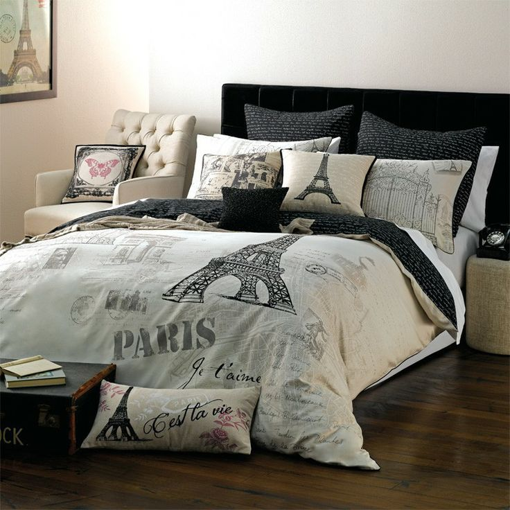 Paris bedding. Looking for new bedding for my newly decorated room!