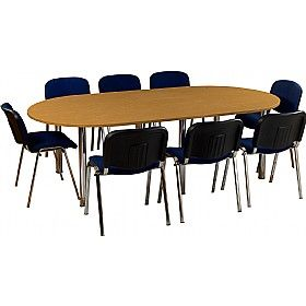 #Officefurniture #conferencetables - Balcary D-End Tubular Leg #OfficeTables are perfect for board rooms that have restricted sitting space. Select your measurements and other specifications and our manufacturers will design it accordingly - http://www.office-desks.co.uk/balcary-d-end-tubular-leg-tables.html