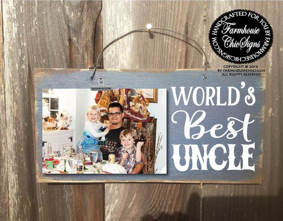 gift for uncle uncle gift uncle world's best by FarmhouseChicSigns