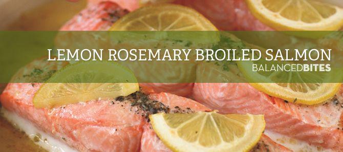 Easy Recipe: Lemon Rosemary Broiled Salmon. Don't like salmon but will ...