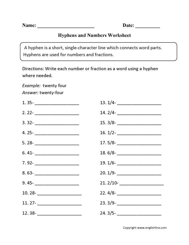 hyphen worksheets board punctuation worksheets grammar worksheets worksheets. Black Bedroom Furniture Sets. Home Design Ideas